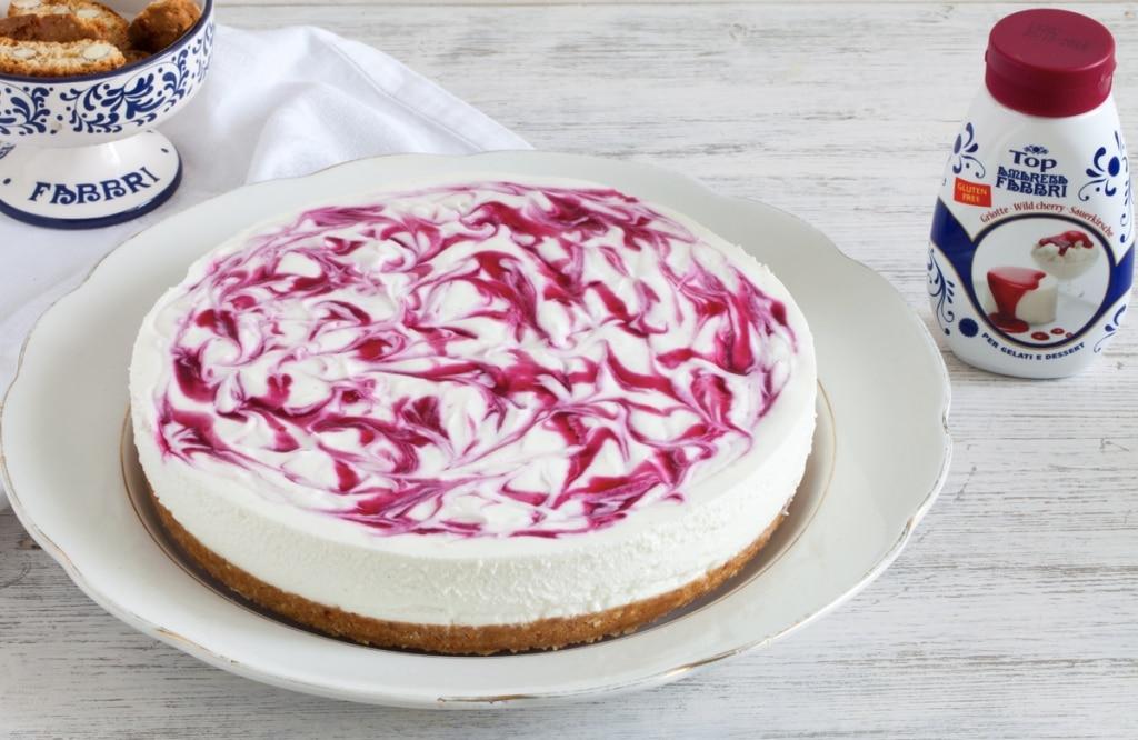 Cheesecake senza cottura marmorizzata