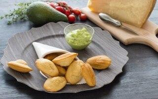 Madeleine al Grana Padano e guacamole
