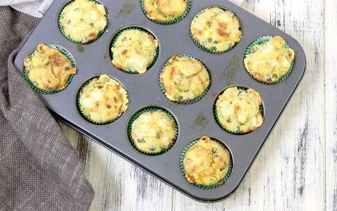 Preparazione Muffin salati piselli e salsiccia - Fase 5