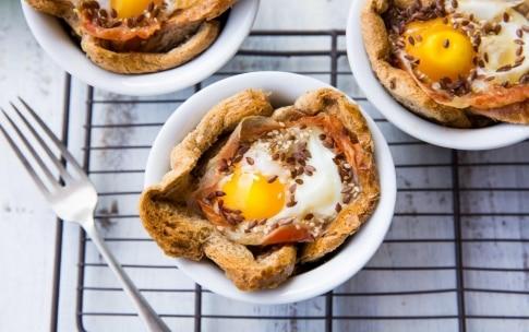 Preparazione Cestini uova e pancetta - Fase 3
