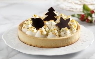 Crostata con namelaka al cioccolato bianco e...