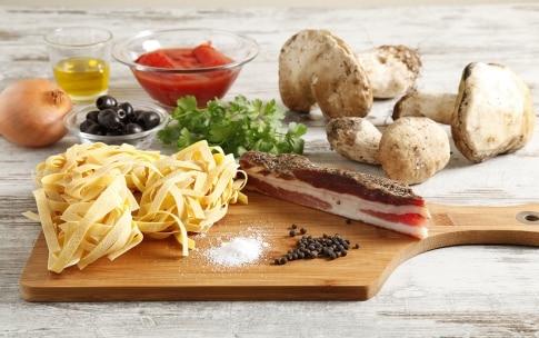 Preparazione Pasta alla boscaiola - Fase 1