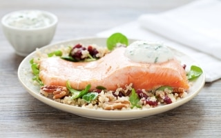 Filetto di salmone con insalata di quinoa