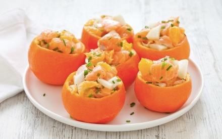 Tartare di salmone, finocchio e mandarino