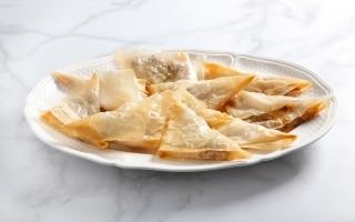 Fagottini di pasta fillo pere e gorgonzola