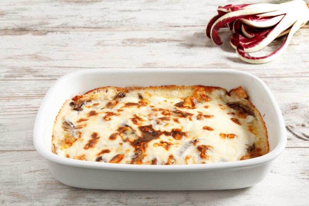 Lasagne al radicchio e fontina