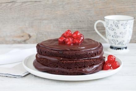 Torta al cioccolato e caffè con crema pasticciera al cioccolato