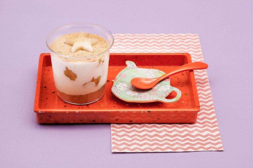 Bicchierini di crema morbida al riso e latte