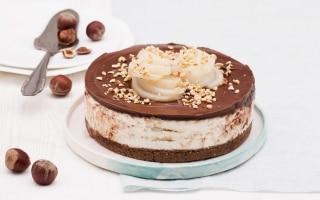 Cheesecake al cioccolato con pere...