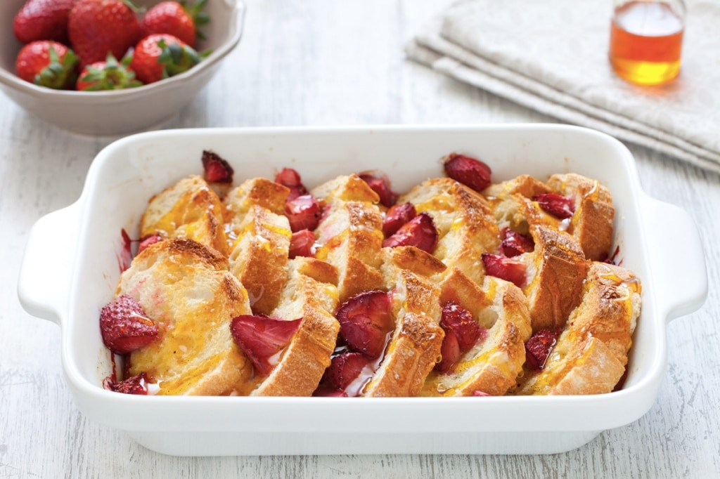 French toast con pane e fragole