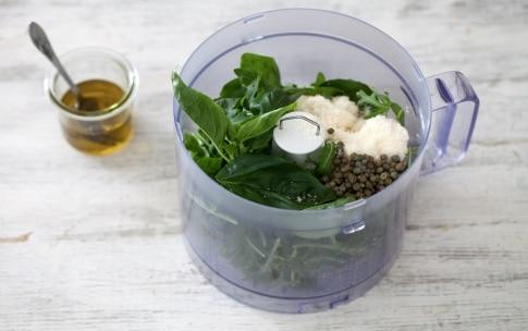 Preparazione Involtini di melanzane, ricotta e noci - Fase 2