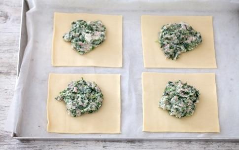 Preparazione Sfogliatine al prosciutto cotto e spinaci - Fase 3