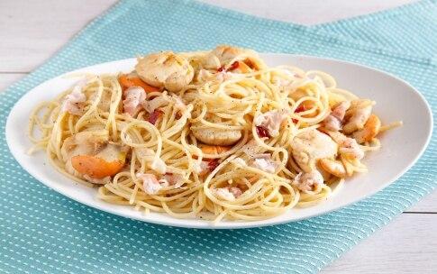 Preparazione Spaghetti di farro con pancetta e capesante - Fase 3