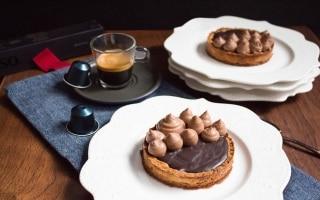 Torta ganache e crema al cioccolato