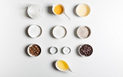 Preparazione Cake senza glutine con grano saraceno e gianduia - Fase 1