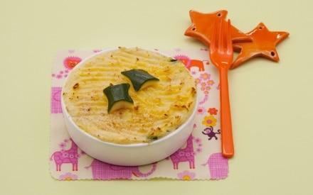 Mini Parmentier di patate con ripieno fondente di zucchine e formaggino