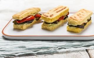 Sandwich di ceci senza glutine