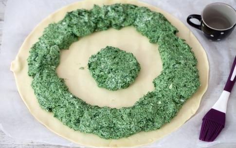 Preparazione Torta girasole spinaci e ricotta - Fase 3