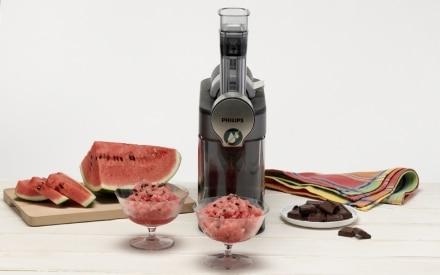 Granita di anguria con gocce di cioccolato