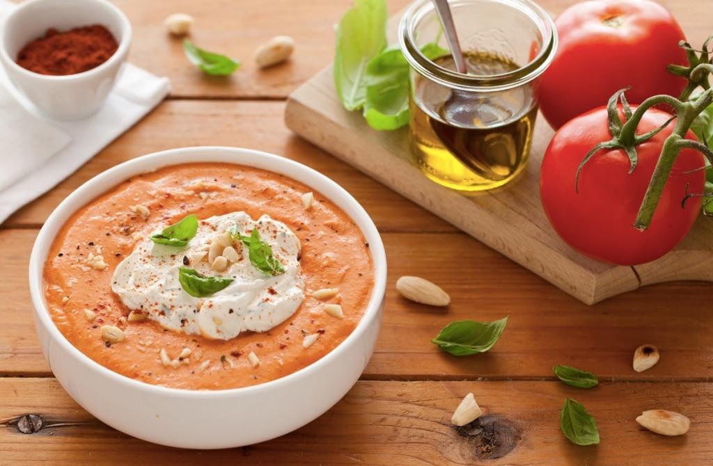 Crema fredda di pomodori arrostiti e paprika affumicata