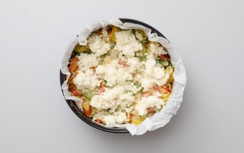 Preparazione Torta di verdure e mozzarella - Fase 2