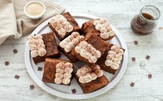 Brownies senza lattosio al caffè