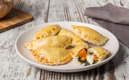Empanadas al forno con zucca e bietole