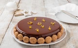 Torta glassata di amaretti e caffè
