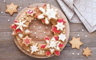 Corona di biscotti di Natale