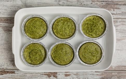 Preparazione Flan di broccoli e porri croccanti con salmone affumicato - Fase 3