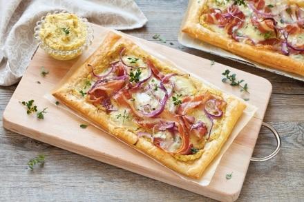 Torta salata al gorgonzola e bacon