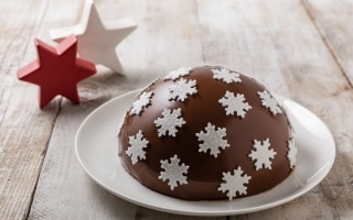 Zuccotto natalizio con ricotta e savoiardi
