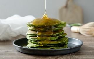 Pancake al tè Matcha