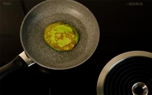 Preparazione Pancake al tè Matcha - Fase 2