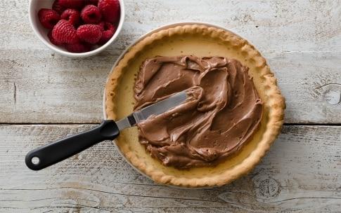 Preparazione Crostata con mascarpone, Nutella e lamponi - Fase 3