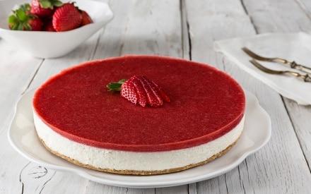 Cheesecake alle fragole e lime