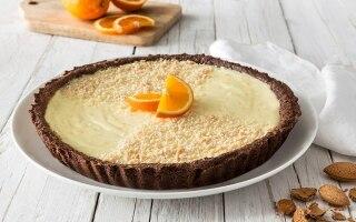 Crostata al cacao profumata all'arancia