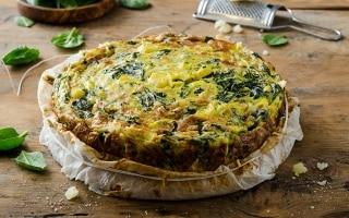 Frittata di porri e spinaci al forno