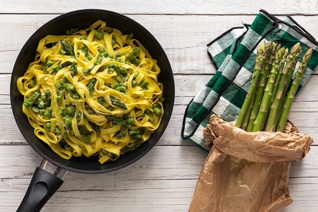 Tagliatelle con gli asparagi