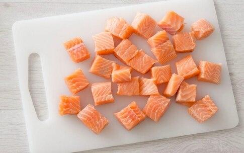 Preparazione Bocconcini di salmone e bacon - Fase 1