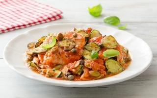 Filetti di merluzzo con zucchine,...