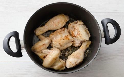 Preparazione Pollo allo spumante - Fase 1