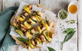 Spiedini di pollo al limone e miele