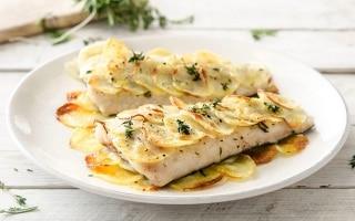 Tranci di nasello al forno con patate