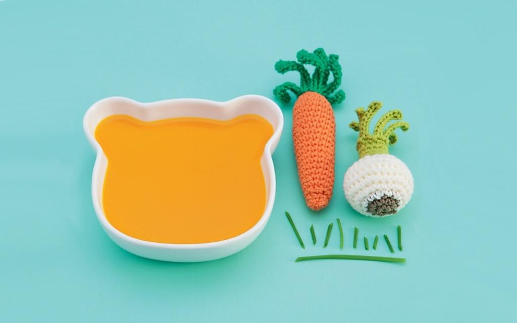 Vellutata di zucca, carote e arancia al tacchino