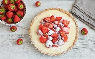 Crostata al cioccolato bianco e fragole
