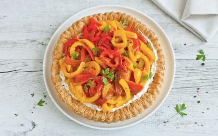 Torta salata estiva di peperoni