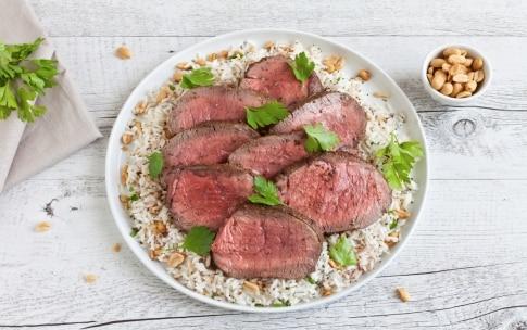 Preparazione Controfiletto di manzo con riso e spezie - Fase 3