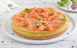 Cheesecake di avocado e salmone