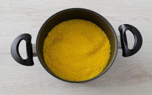 Preparazione Cous cous allo zafferano con spezzatino ai peperoni - Fase 4